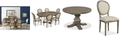 Furniture Tristan Round Expandable Dining Furniture, 7-Pc. Set (Table & 6 Side Chairs)