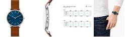 Skagen Hagen Slim Brown Leather Strap Watch 38mm