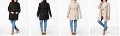 Calvin Klein Plus Size Asymmetrical Belted Coat