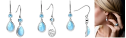 Marahlago Larimar and Blue Topaz (3/4 ct. t.w.) Drop Earrings in Sterling Silver