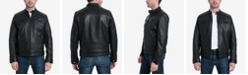 Michael Kors Michael Kors Men's Big & Tall Perforated Moto Leather Jacket, Created for Macy's