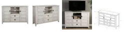 """Walker Edison angelo:HOME 52"""" Rustic Chic TV Console - White Wash"""