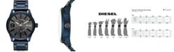 Diesel Men's Rasp NSBB Blue Stainless Steel Bracelet Watch 46mm