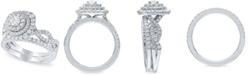 Macy's Diamond Halo Bridal Set (1 1/4 ct. t.w.) in 14k White Gold