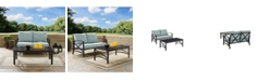 Crosley Kaplan 2 Piece Outdoor Seating Set With Cushion - Loveseat, Coffee Table