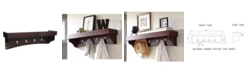 Alaterre Furniture Shaker Cottage Coat Hooks with Tray Shelf
