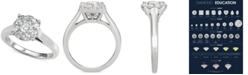 Centennial Diamond Halo Engagement Ring (1 ct. t.w.) in 14k White Gold