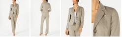 Le Suit Two-Button Striped Pantsuit