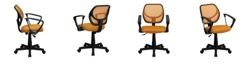Flash Furniture Mid-Back Orange Mesh Swivel Task Chair With Arms
