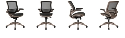 Flash Furniture Mid-Back Transparent Black Mesh Executive Swivel Chair