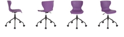 Flash Furniture Brockton Contemporary Design Purple Plastic Task Chair