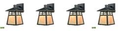 ELK Lighting Cottage 1 Light Outdoor Wall Sconce in Matte Black