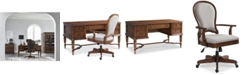 Furniture Clinton Hill Cherry Home Office Furniture, 2-Pc. Set (Writing Desk & Upholstered Desk Chair), Created for Macy's