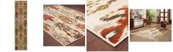 "Oriental Weavers CLOSEOUT!  Casablanca 4437A Ivory/Multi 1'10"" x 7'6"" Runner Area Rug"