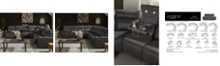 Furniture CLOSEOUT! Oaklyn 5-Pc. Fabric Sectional Sofa with 3 Power Recliners, Power Headrests, USB Power Outlet & Drop Down Table