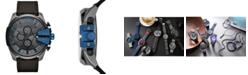 Diesel Men's Chronograph Mega Chief Gray Nylon Strap Watch 51mm