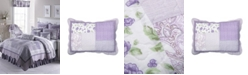 American Heritage Textiles Lavender Rose Cotton Quilt Collection, Queen