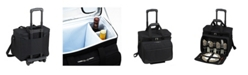 Picnic At Ascot Equipped Picnic Cooler with Service for 4 on Wheels