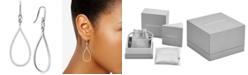 Michael Kors Sterling Silver Pavé Tear-Shape Drop Earrings