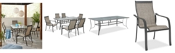 "Furniture Reyna Outdoor Aluminum 7-Pc. Dining Set (84"" X 42"" Dining Table and 6 Dining Chairs), Created For Macy's"
