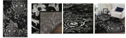 "Safavieh Adirondack Black and Silver 5'1"" x 7'6"" Area Rug"