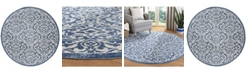 """Safavieh Brentwood Navy and Creme 6'7"""" x 6'7"""" Round Area Rug"""