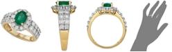 Macy's Emerald (7/8 ct. t.w.) & Diamond (1/4 ct. t.w.) Ring in 14k Gold
