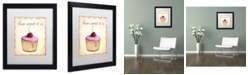 "Trademark Global Jennifer Nilsson Cherry Cupcake Matted Framed Art - 16"" x 20"" x 0.5"""