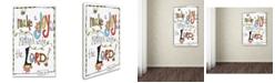 """Trademark Global Jennifer Nilsson Words of Joy - Joyful Noise Canvas Art - 16"""" x 20"""" x 0.5"""""""