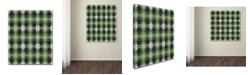 "Trademark Global Jennifer Nilsson Green Gray Check 2 Canvas Art - 24"" x 32"" x 2"""