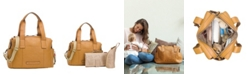 Storksak Kym Leather Diaper Bag