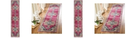 Safavieh Merlot Fuchsia and Multi 2' x 8' Runner Area Rug