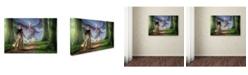 "Trademark Global Daniel Eskridge 'Facing The Red Dragon' Canvas Art - 32"" x 22"" x 2"""
