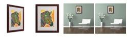 """Trademark Global Dean Russo 'Zebra' Matted Framed Art - 16"""" x 20"""" x 0.5"""""""