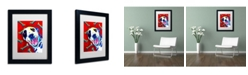 """Trademark Global DawgArt 'Yum' Matted Framed Art - 14"""" x 11"""" x 0.5"""""""