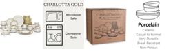 Noritake Charlotta Gold 60-PC Dinnerware Set, Service for 12