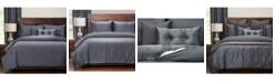 PoloGear Gateway Denim Embossed 6 Piece Queen Luxury Duvet Set