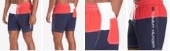 "Tommy Hilfiger Men's Carl Quick-Dry Colorblocked 6-1/2"" Swim Trunks"