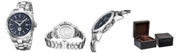 Roberto Cavalli By Franck Muller Men's Swiss Quartz Silver Stainless Steel Bracelet Watch, 42mm
