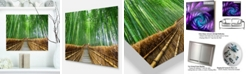 "Design Art Designart 'Path To Bamboo Forest' Landscape Photography Metal Wall Art - 20"" X 12"""