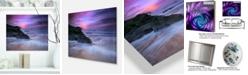 "Design Art Designart 'Slow Motion Waves On Winch Beach' Seashore Metal Wall Art - 20"" X 12"""