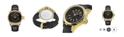 Jbw Men's Rook Diamond (1/8 ct.t.w.) 18k Gold Plated Stainless Steel Watch