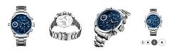 Jbw Men's G3 Diamond (1/6 ct.t.w.) Stainless Steel Watch