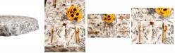 "Design Import Botanical Print Table cloth 70"" Round"