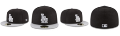 New Era Los Angeles Dodgers Black Heather 59FIFTY Fitted Cap