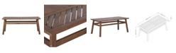 Walker Edison Patio Wood Coffee Table