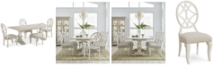 Furniture Trisha Yearwood Jasper County Dogwood Rectangular Dining Furniture, 5-Pc. Set (Table & 4 Side Chairs)
