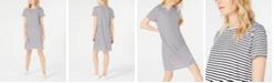 Eileen Fisher Organic Linen Striped Dress