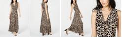 INC International Concepts I.N.C. Leopard-Print Faux-Wrap Maxi Dress, Created for Macy's
