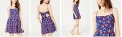 B Darlin Juniors' Floral Bow-Back Dress